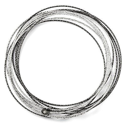 Sand Ruthenium Plated 10 Layer Slip On Bangle Bracelet Cuff Expandable Stackable Fashion Jewelry Gifts For Women For Her