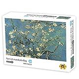 Herize Puzzle 1000 Piezas Adultos para Niños | Mini Puzzle Van Gogh 1000 Flor de Albaricoque Regalos Hombre Intelectual Desafío Juegos de Rompecabezas para la Damilia Decoración del Hogar 42X29.7 CM