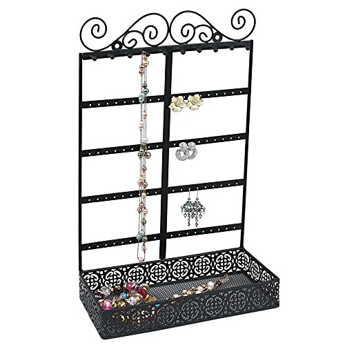 Caddy Bay Collection Vintage Style Handmade Metal Earring Necklace Bracelet Jewelry Display Tower Tree Rack