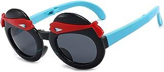 GWQDJ - Gafas De Sol Polarizadas para Niños 100% UV400 Protección Gafas Inquebrantable Silicona Flexible Silicona Gafas Plegables para Niñas Y Niños Edad 3-12