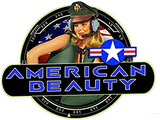 DaVinci Wrap Masters 'American Beauty!' Classic Bomber Pin-Up Nose Art Vinyl Decal