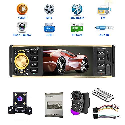 petit un compact Autoradio mains libres Bluetooth, radio à écran tactile YYKJ 1 DIN 4 pouces Radio FM…