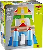 HABA 305162 - Bausteine – Große Grundpackung, bunt, mit 43 Steinen in unterschiedlichen Farben und Formen, Motorikspielzeug aus Holz, für Baumeister von 1 bis 8 Jahren