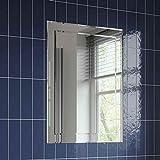 <span class='highlight'>Bathroom</span> <span class='highlight'>Mirror</span> Bevelled Rectangle Frameless Wall Mounted Luxury 500 x 700mm