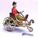 FSLLOVE FANGSHUILIN Retro Caballero Montando en Triciclo Modelo Wind-up Tin Toy...