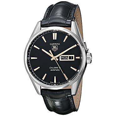 TAG Heuer Men's WAR201C.FC6266 Carrera Analog Display Analog Black Watch