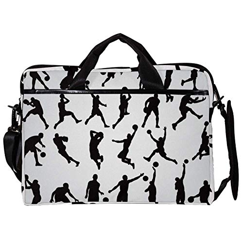 TIZORAX Laptop Messenger Shoulder Bags Play Basketball Man Computer Sleeve Notebook Carrying Case 15-15.4 inch Handbag