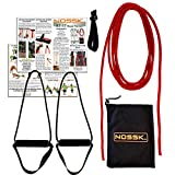 NOSSK RT-17 Rope Bodyweight Fitness Trainer (red), Manufactured in The USA, for Indoors and Outdoors - for All Ages and Fitness Levels
