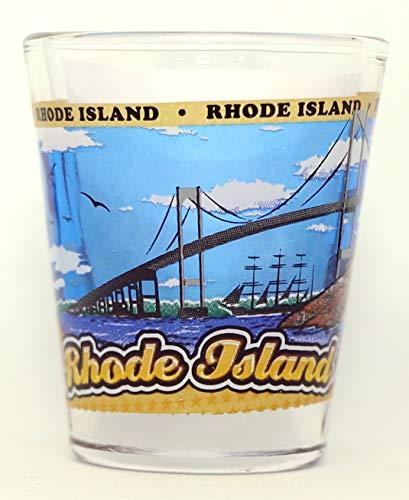 Rhode Island State Wraparound Shot Glass