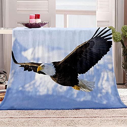 ZSDWGL Manta Sofa Microfibra Suave Acogedora Manta de Lujo para La Cama 135 x 200 cm Águila Animal