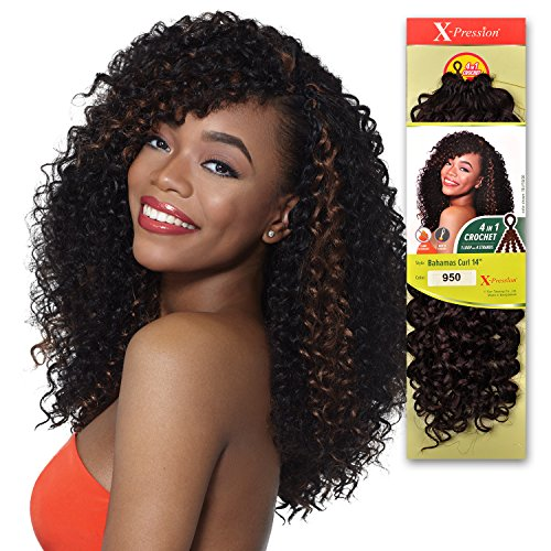 Outre Synthetic Hair Crochet Braids X-Pression Braid 4 In 1 Loop Bahamas Curl 14 (1, 4)
