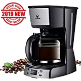 Posame Electric Coffee Makers-12 Cup Programmable Smart Drip Coffee Maker Brew Machine with 1.6QT Glass Carafe...
