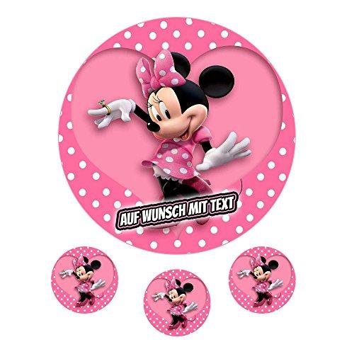 Tortenaufleger Geburtstag Tortenbild Zuckerbild Oblate Motiv: Disney Minnie Maus (Oblatenpapier)