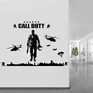 Motivational Wall Stickers Household Wall Sticker, Bedroom Wall Sticker, Removable Vinyl Decal Soldier Pattern DIY Sticker...