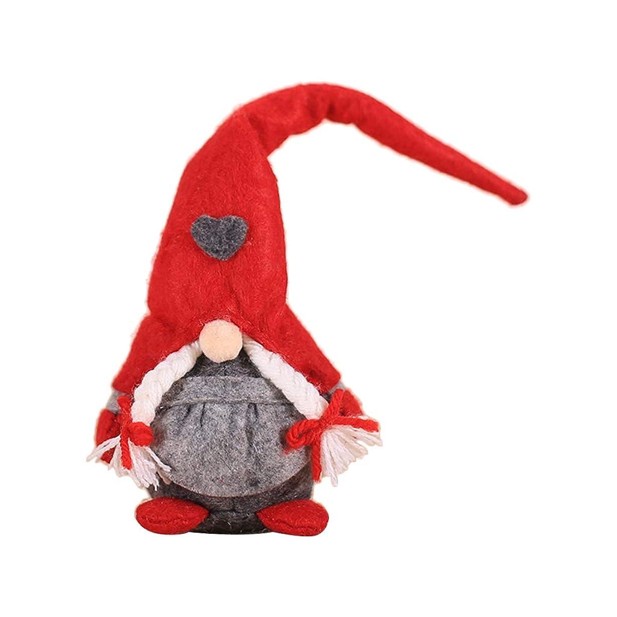 因子免疫するまたshunxinerstyクリスマスオーナメント1ピースクリスマス手作りサンタぬいぐるみ人形オーナメントぶら下げクリスマスツリー玩具ホリデーホームパーティーの装飾キッズギフトd#
