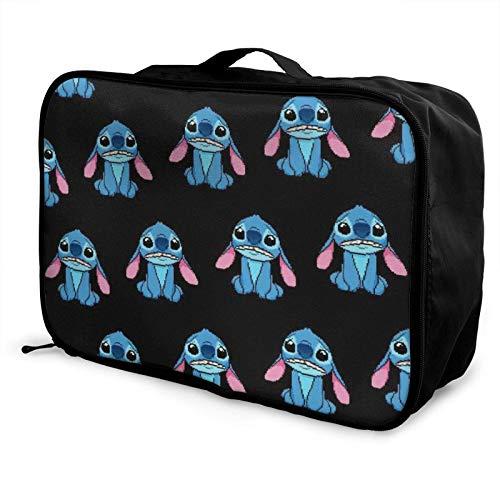 Bla Stitch - Bolsa de viaje plegable, impermeable, ligera, portátil, de alta capacidad