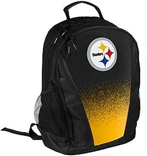 FOCO NFL Pittsburgh Steelers Logo Gradient Print Primetime Deluxe Backpack, Team Color, Standard, One Size