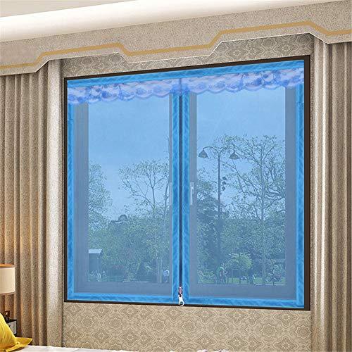 LANDP Muggenscherm Klittenband Van boven naar beneden Ritssluiting anti muggenraam houden frisse lucht super rustig mesh venster insectengaas Geschikt voor ramen, deuren