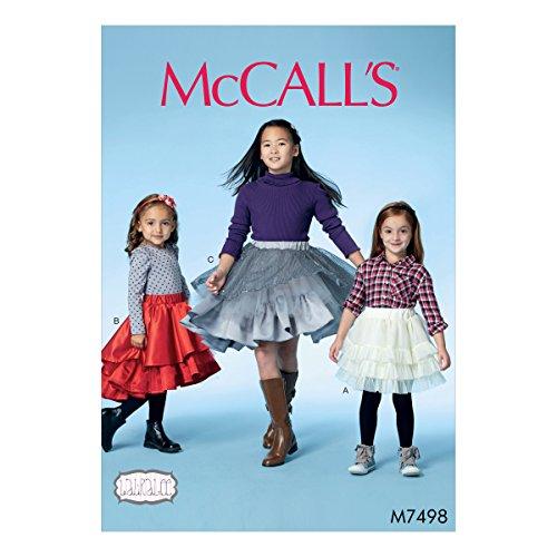 Mccall's Patronen 7498 CCE, kinderen/meisjes rokken, maten 3-6, klok, multi/kleur, 17 x 0.5 x 0.07 cm