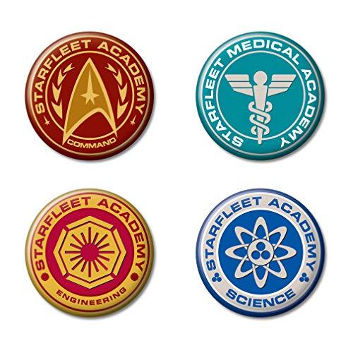 Star Trek 4 Stück Button Set