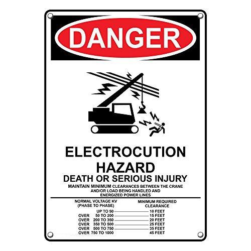 Very popular Weatherproof Plastic Vertical High quality OSHA Danger Electrocution S Hazard
