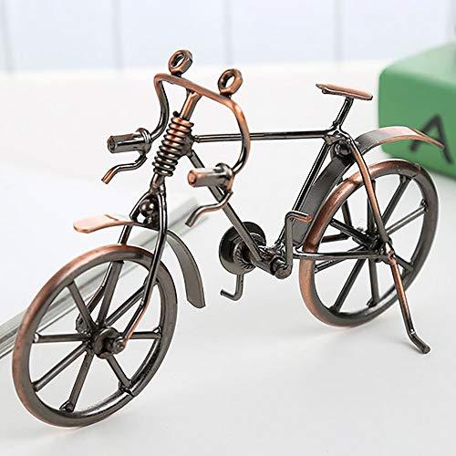 DAMAI STORE Artesanía del Hierro De Bicicletas Modelo Crafts Europeos La Decoración del Hogar 19cm * 12cm * 6.5cm