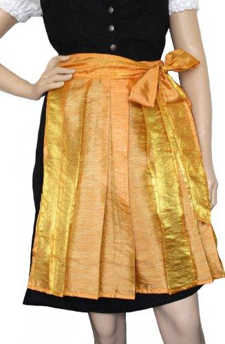 German Wear Mini Dirndlschürze Trachtenschürze in der Farbe Orange/Gelb, Größe:44-46