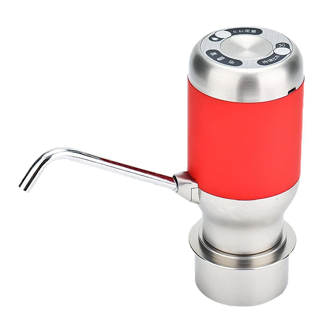 最も遠い彫刻家鳴り響くウォーターポンプ 電動 ポータブル ウォーターサーバー USB充電式 インジケータ付 ホーム オフィス アウトドア レッド