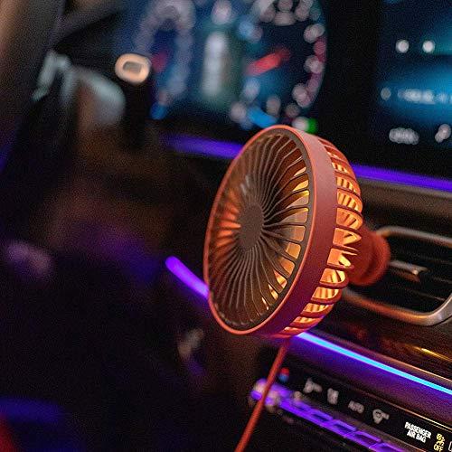 Fanático del coche Ventilador de coche USB en ventilador de automóviles Ventilador USB para ventiladores de automóviles para automóviles Ventilador de ventilador de automóviles para automóvil para el