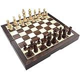 Profesional Tablero de ajedrez de Calidad Juego de Juegos de ajedrez de Madera Set Solid Wood Chess Pieces International Ajedrez Ajedrez Juego Juego Juego de ajedrez Friends Regalo