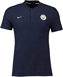 Nike 2018-2019 Man City Authentic Grand Slam Polo Football Soccer T-Shirt Jersey (Obsidian)