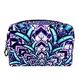 Bolsa de cosméticos Bolsa de Maquillaje para Mujer para Viajar Llevar cosméticos Cambiar Llaves, etc.,Arte Flor Mandala Patrón Floral