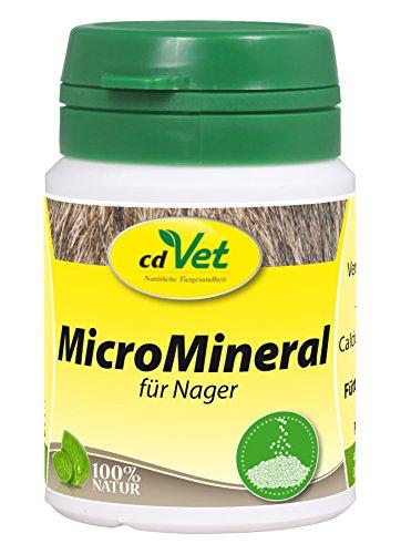 cdVet Naturprodukte MicroMineral für Nager 25 g - naturbelassene Mikronährstoffversorgung - natürliche Mineralisierung und Vitaminabdeckung - Entlastung Entgiftungsorgane - Calcium - Magnesium -