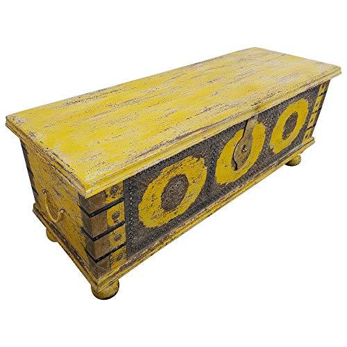 Indoortrend.com Truhe Kiste Holztruhe Vintage Massiv Box aus Altholz Antik Handarbeit Unikat 14 - 2