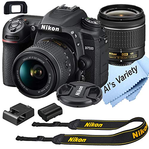 Nikon d7500 dslr camera kit with 18-55mm vr lens | built-in wi-fi | 20. 9 mp cmos sensor | expeed 5 image processor and full hd 1080p video recording at 30 fps| snapbridge bluetooth connectivity