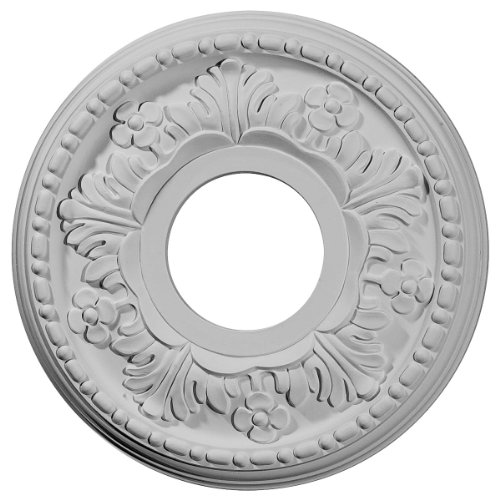 Ekena Millwork CM11HE Helene Ceiling Medallion, 11 7/8'OD x 3 5/8'ID x 7/8'P (Fits Canopies up to 5 1/4'), Factory Primed
