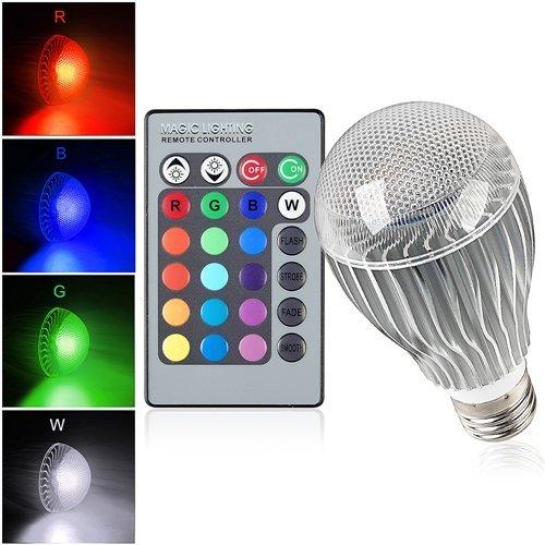 MASUNN5W E27 B22 RGB 16 Farben LED Lampe Glühbirne synchronisierte Funktion + Fernbedienung AC85-265V