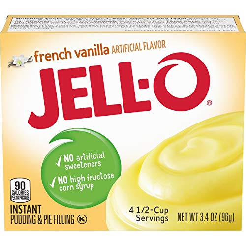 JELL-O French Vanilla Instant Pudding & Pie Filling Mix (3.4 oz Box)