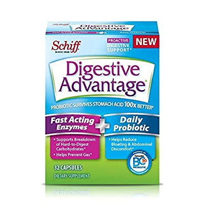 Digestive Advantage Fast Acting Enzymes & Daily Probiotic Capsules