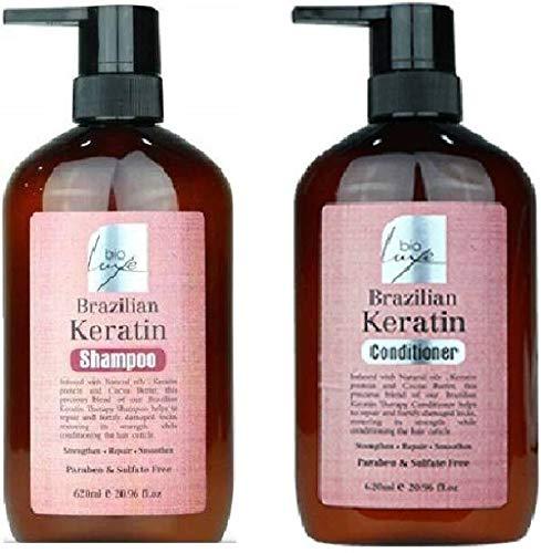 BIO LUXE Brazilian Keratin Shampoo & Conditioner PACK OF 2