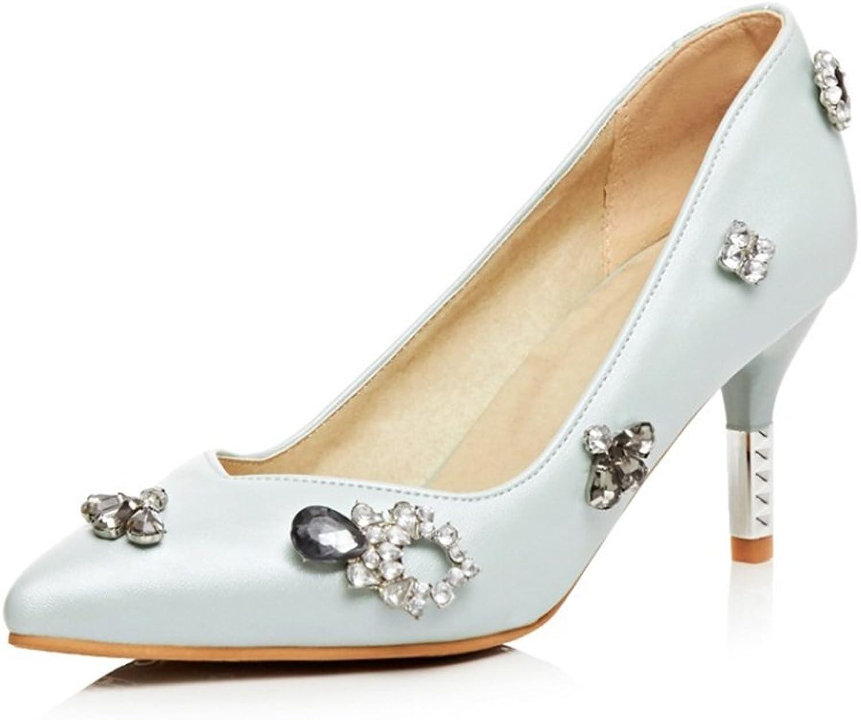 Spring and Autumn New Wedding shoes Women Fashion High Heels Single shoes Rhinestones High Heels