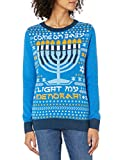 Ugly Christmas Sweater Company Women's Assorted Pullover Xmas Sweaters with Multi-Colored LED Flashing, Ocean...