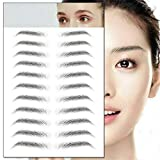 4D Hair-like Authentic Eyebrows,Imitation Ecological Lazy Natural Tattoo Eyebrow Stickers Waterproof,Semi-Permanent Stick-On Eyebrows False for Women and Men 10 Pcs (E14)