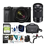 Sony Alpha a6600 APS-C Mirrorless ILC Bundle with 18-135mm & 55-210mm Lenses (8 Items)
