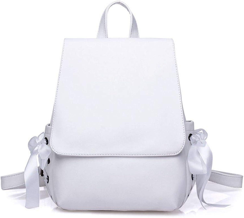 DYR Backpack Lady Shoulder Bag Ribbon Handbag Outdoor Travel Bag Leisure Sports Bag