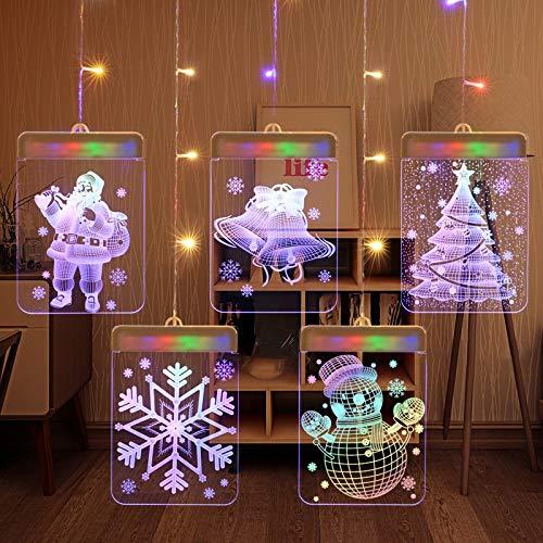 MQIQI LED Einhorn Chirstmas Cutrain Lichter Ehe Confession Schnur-feenhafte Licht-hängende Wand-Lampe for Partei Hochzeit Geburtstag Dekor (Color : #2)