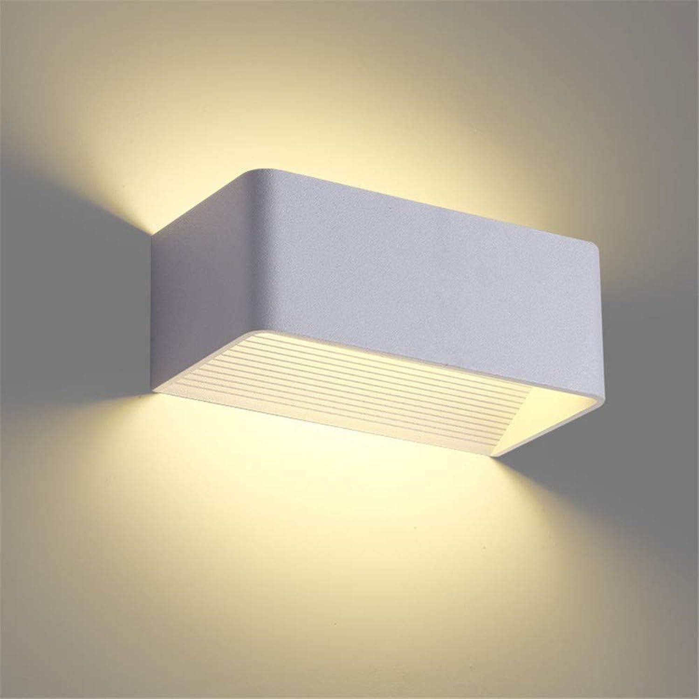 HZHUR Wandleuchte Schlafzimmer Wohnzimmer Flur bad Wandlampe Retro-modernen Wandbeleuchtung LED quadratisches Aluminium, neutrales Licht, 250  100  100mm (10W)