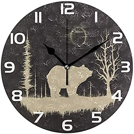 Details about  /Frozen clock wall clock of pine forest 12 forms fr 3749 show original title