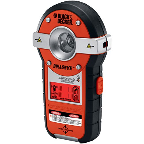 BLACK+DECKER Line Laser, Auto-leveling with Stud Sensor (BDL190S),Black/Orange