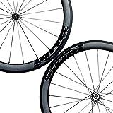 PREEMINA Carbon-Clincher Wheelset 700C Road-Bike Wheels - 25mm Wide Aero Rim Brakes BladeX SDM 5X5...